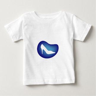 Shoe on blue droplet infant t-shirt