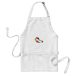 Shoe on colorful circles adult apron
