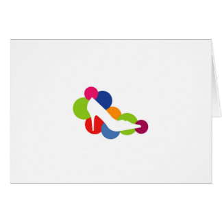 Shoe on colorful circles greeting card