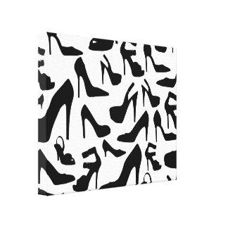 shoe pattern.ai canvas print