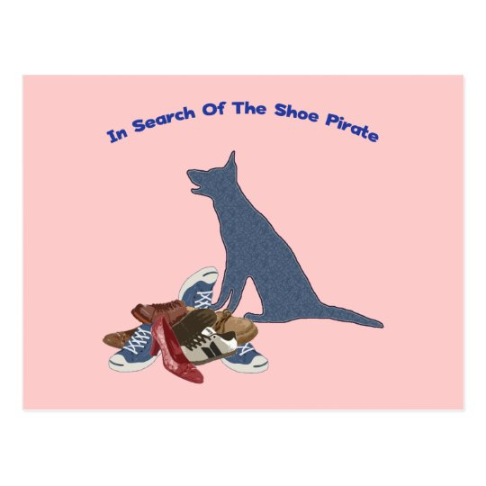 Shoe Pirate Dog Thief Postcard