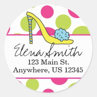 Shoe Polka Dot Address Stickers