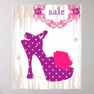 SHOE Poster Purple - FASHION Posters
