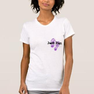 shoe print Just Run T-shirt
