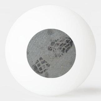 Shoe print ping pong ball