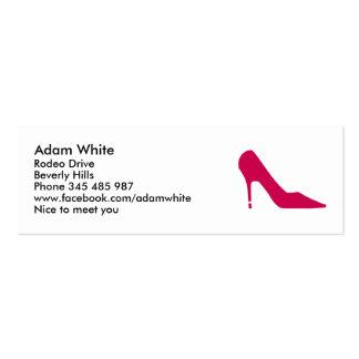 Shoe pumps business card
