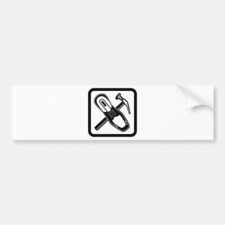 Shoe Repair Icon Black Bumper Sticker