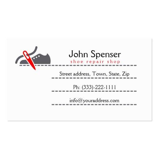 Shoe Repair Shop/Shoemaker Business Card