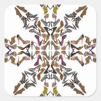 Shoe-Scope Square Sticker