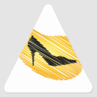 shoe scribbled graphically triangle sticker