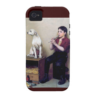 Shoe shine Boy playing flute and his Dog iPhone 4/4S Case
