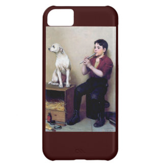 Shoe shine Boy playing flute and his Dog iPhone 5C Cases