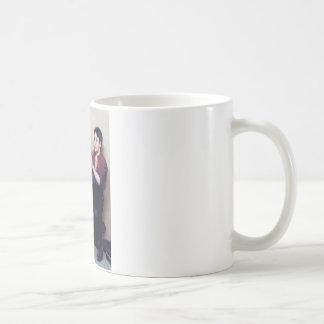 Shoe shine Boy playing flute and his Dog Coffee Mug