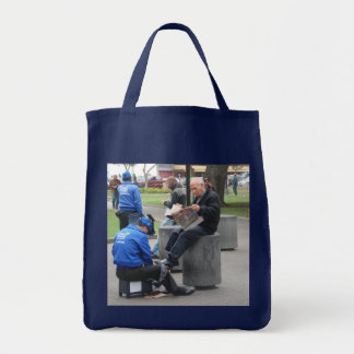 Shoe Shine in the Park in Lima Peru Canvas Bags