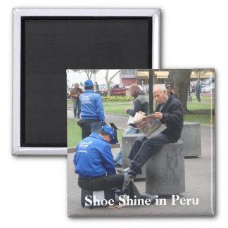 Shoe Shine in the Park in Lima, Peru Magnet