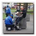 Shoe Shine in the Park in Lima, Peru Posters