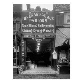 Shoe Shine Parlor, 1920s Postcard