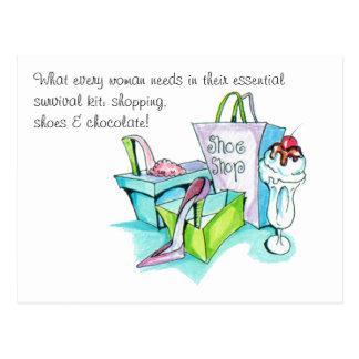 Shoe Shop Gifts Postcard