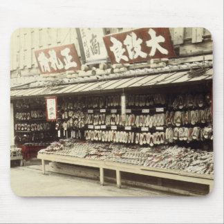 Shoe shop in Kyoto, c.1890 (hand-coloured photo) Mouse Pad