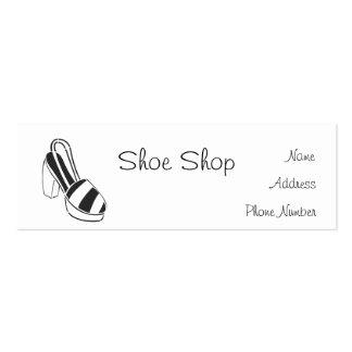 Shoe Shop Narrow Business Cards