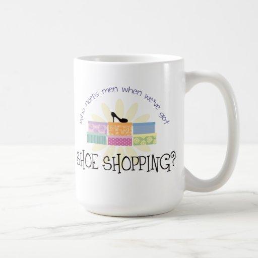shoe shopping coffee mug zazzle