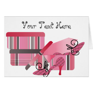 Shoe Shopping In Pink and Gray Card