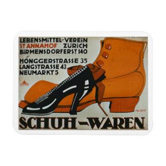 'Shoe Shops', Zurich (colour litho) Rectangular Photo Magnet