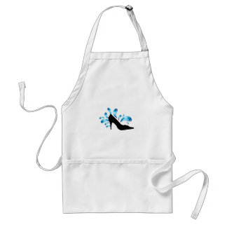 Shoe silhouette with water droplets adult apron