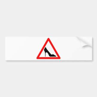 Shoe Warning Sign Car Bumper Sticker
