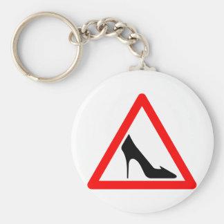 Shoe Warning Sign Keychain