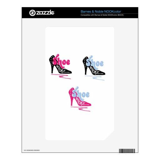 Shoe Whore NOOK Color Decals