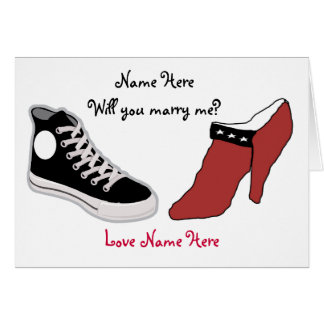 Shoe Will You Marry Me Card