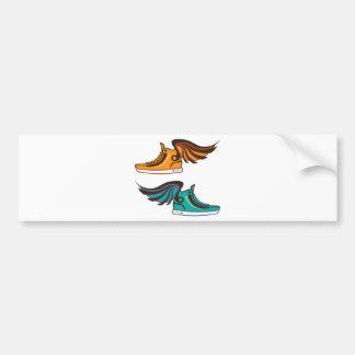 Shoe Wing. Fast. Bumper Sticker