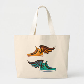 Shoe Wing. Fast. Large Tote Bag
