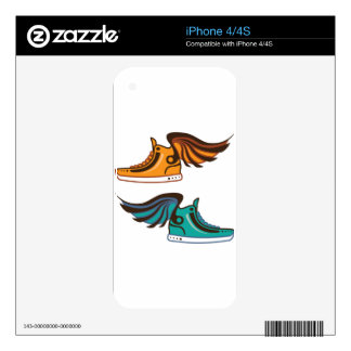 Shoe Wing. Fast. Skin For iPhone 4S