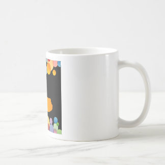 Shoe with colorful circles coffee mug