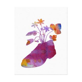 Shoeflowers Canvas Print