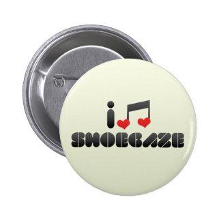 Shoegaze fan pinback button