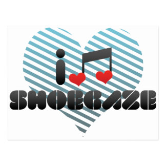 Shoegaze fan postcard