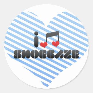 Shoegaze fan round sticker