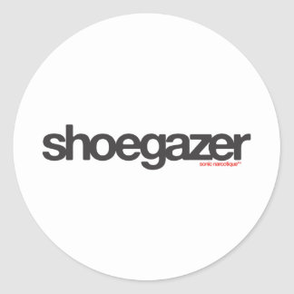 Shoegazer Classic Round Sticker