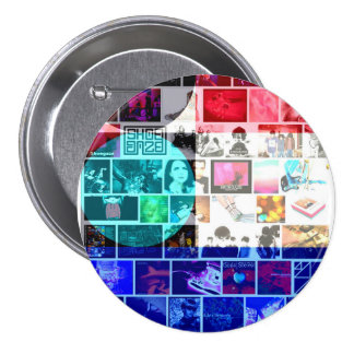 Shoegazing AT The Scene badge 3 Inch Round Button