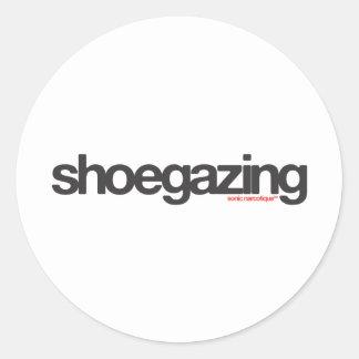 Shoegazing Classic Round Sticker