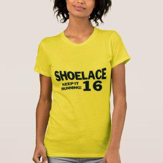 Shoelace Keep It Running - Blue T Shirts