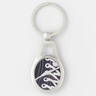 Shoelaces Closeup Keychain