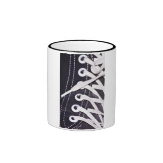 Shoelaces Closeup Ringer Mug