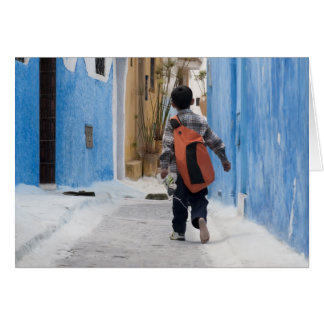 Shoeless boy, Rabat, Morocco Card