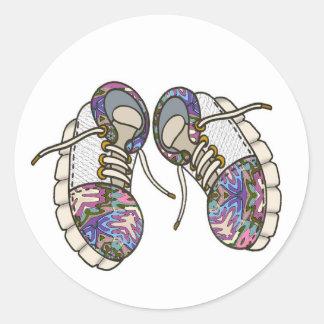 Shoes-01 Pegatina Redonda