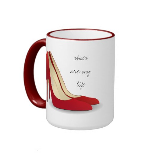 Shoes Are My Life Ringer Coffee Mug