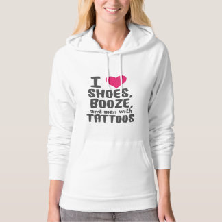shoes booze and men with tattoos hoodie